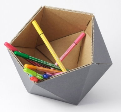 Pen Holder Made of Recycled Cardboard