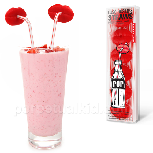 Red Lip Straws are Great for Parties