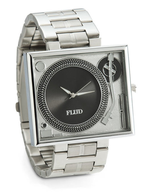 Turntable Metallic Watch