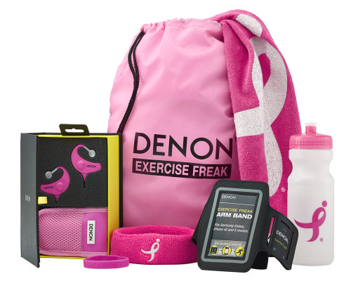 denon Komen Wireless Exercise Freak Headphones breast cancer (2)