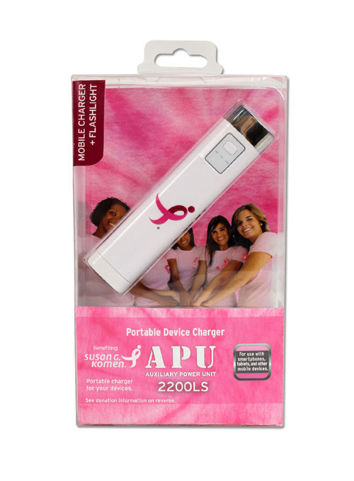 komen portable charger breast cancer