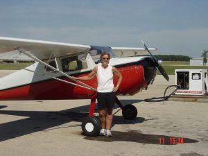 Terri with her 1946 Cessna 140