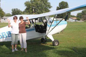 Karen and Judy departing Skylane Airport 3EV