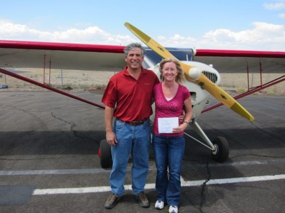 Ted Goettl and Tiffany Goettl - both new private pilots!