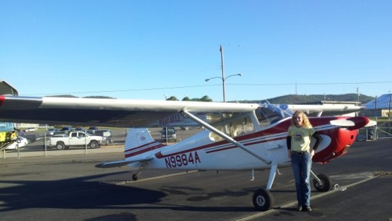 Here is a pik of me and the C170 @ KHOT