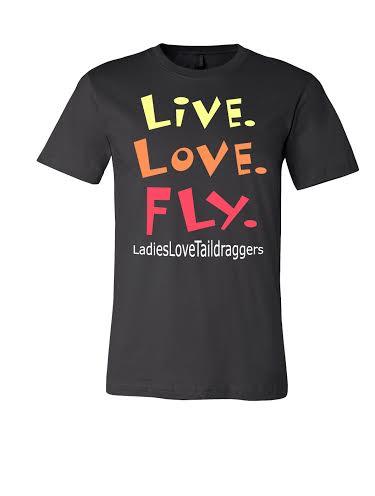 Black LLT Unisex tshirt