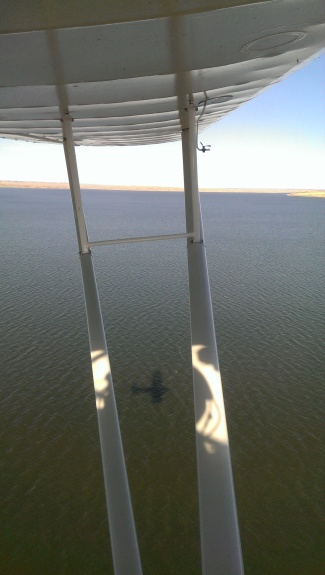 Flying the Taylorcraft over the Missouri River