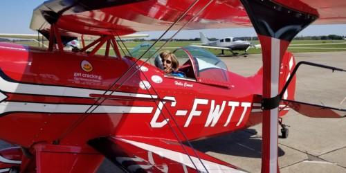 1st Lady taildragger pilot arrives for LLT Flying Tour!