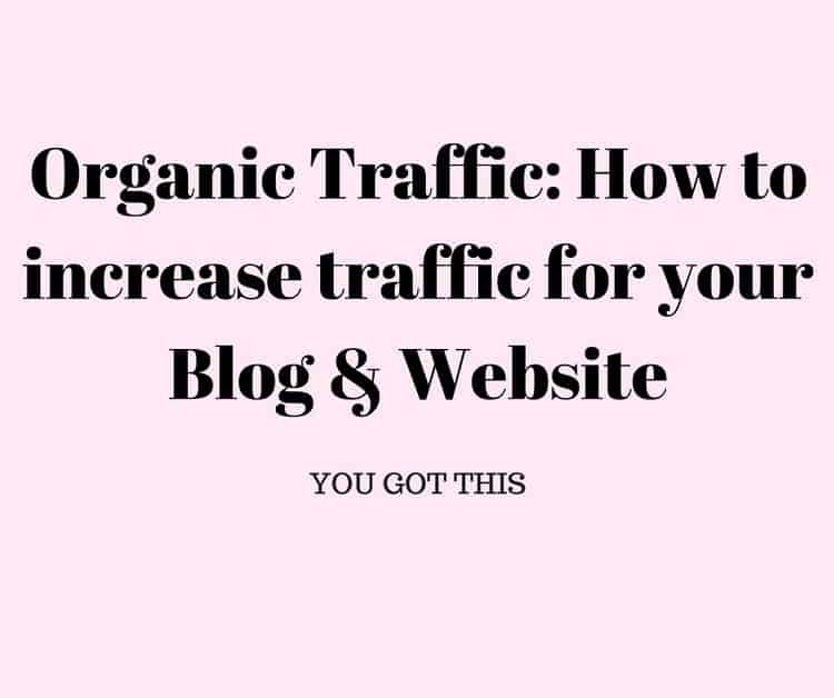 Organic Traffic: How to increase traffic for your Blog & Website