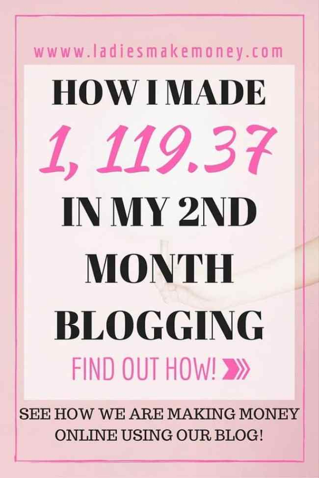 How I made money in my Second month blogging and how you can do it too