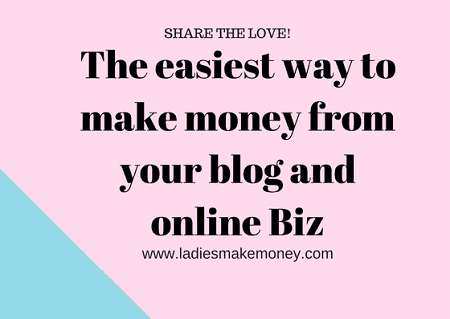 The easiest way to make money from your blog and online Biz