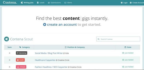 get paid to blog with Contena