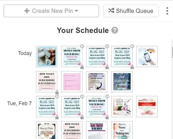 Schedule pin to tailwind tribe