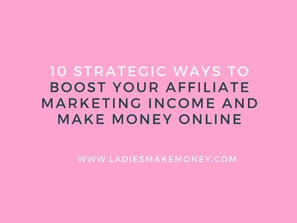 Affiliate Marketing for Beginners   Have you been wanting to try affiliate marketing for your blog, but wonder if it's just too hard or maybe even a waste of time? This post is for you! We will be sharing tips on how to boost your affiliate marketing income and make good money online. Learn how to earn a full-time income using Affiliate marketing. Use Affiliate marketing on your blog to make money #makemoneyonline #bloggingtips #affiliatemarketing