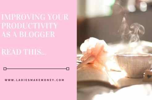 Improving your productivity as a blogger
