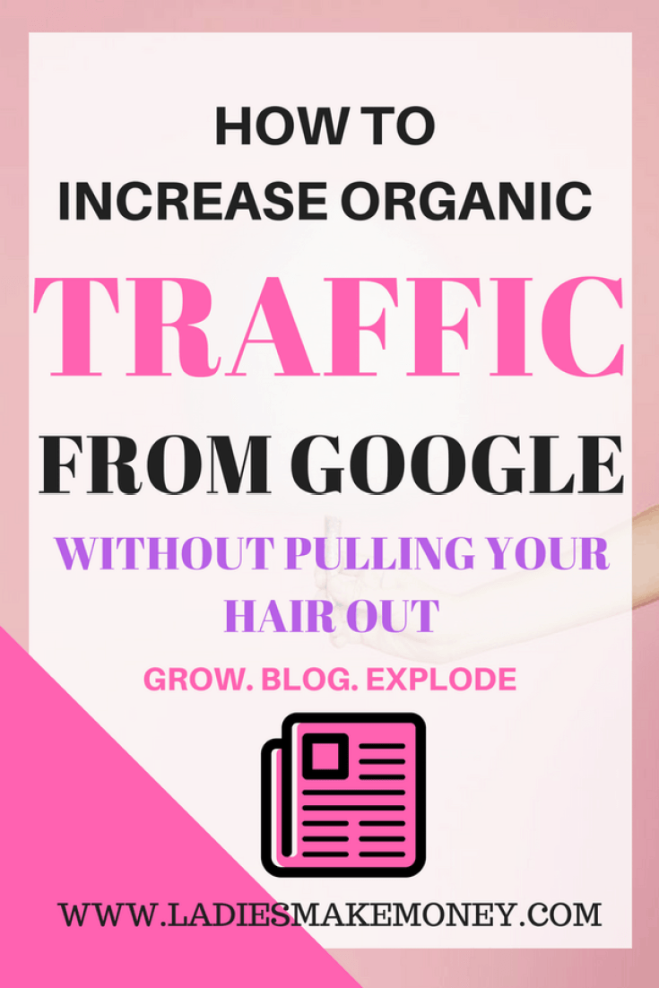 How to increase Organic traffic from Google.