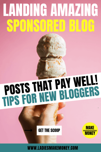 How to land Sponsored post opportunities for new bloggers. Get paid to blog by working with brands. If you are a blogger looking for sponsored blog post, check this post out. How much to charge for sponsored blog posts. Bloggers working with brands, Learn how to pitch yourself to brands and make money online #sponsoredblogposts #workingwithbrands #ladiesmakemoney #makemoneyonline