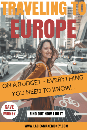 traveling on a budget Europe. Everything you need to know about traveling on a budget and saving money. If you are looking for frugal tips on how to save money while traveling to Europe, then you need to read this. Travel Hacks: Travelling Europe for Cheap Europe doesn't have to expensive, check out our travel hacks on how to travel on a budget #travelonabudget #europe #vacation
