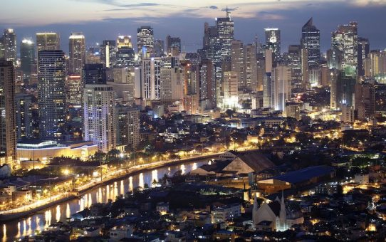 View of Makati in Manila and the Pasig River