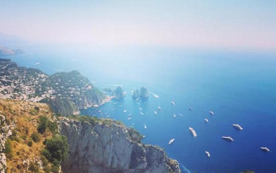 gorgeous views from the top of Mount Solaro, Capri.