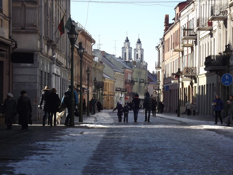Beautiful Kaunas Old Town.