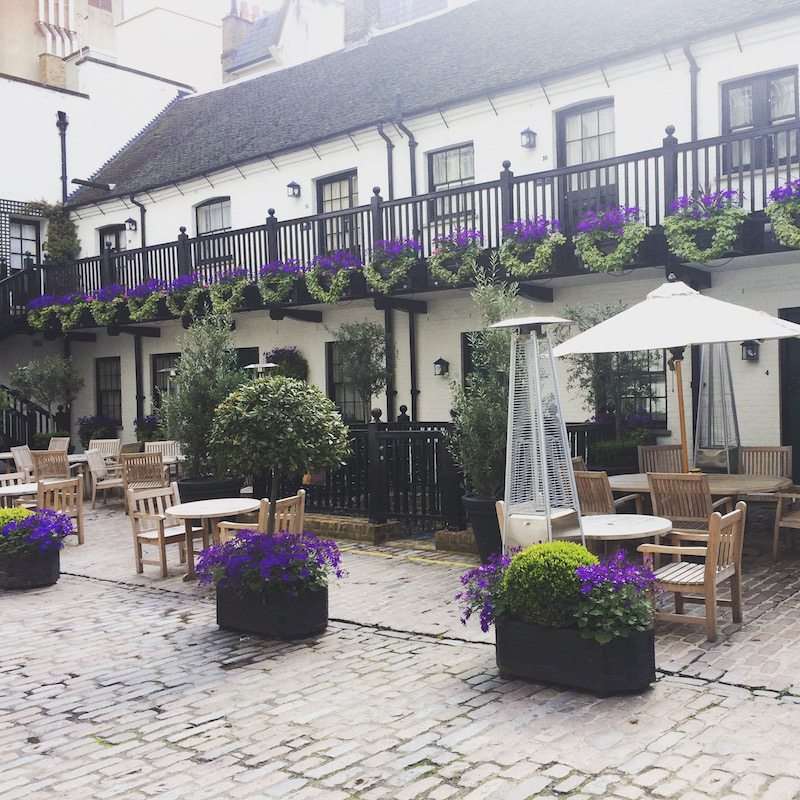 Such a pretty cobbled courtyard at The Stafford London.