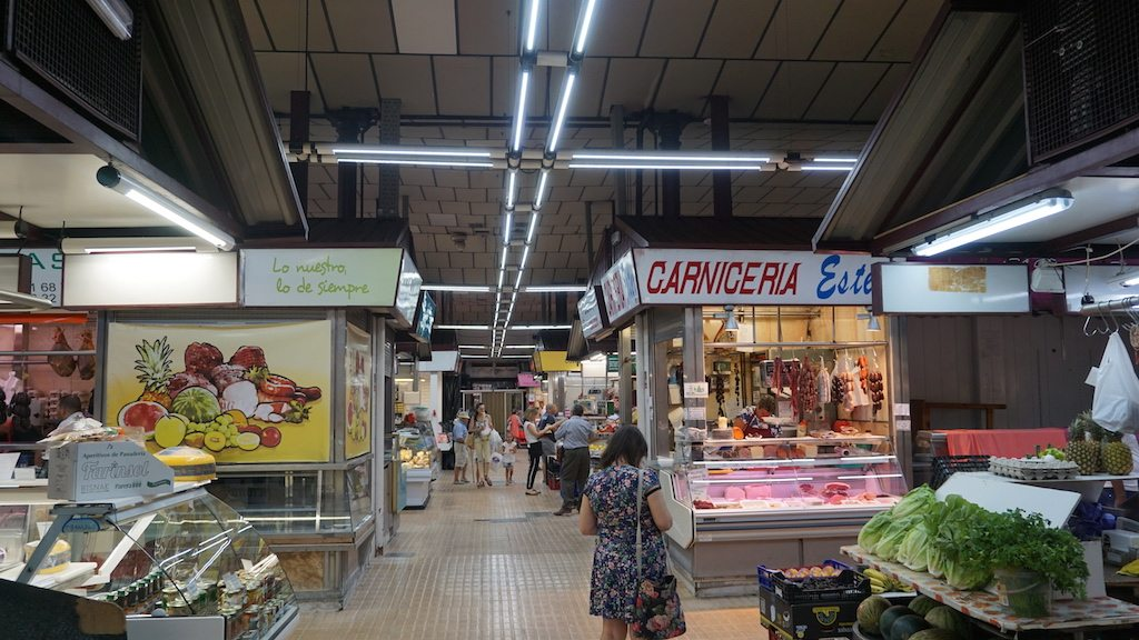 Inside castellon central market
