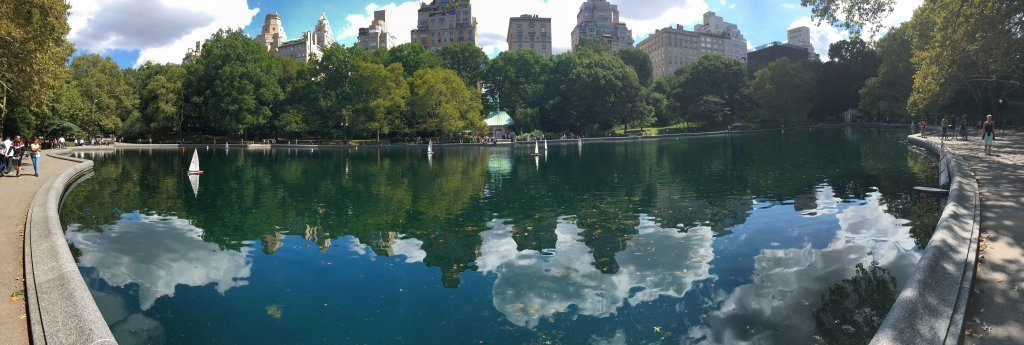One of the boating lakes at Central Park