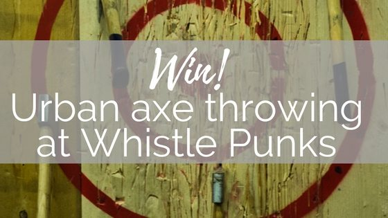 Whistle Punks urban axe throwing competition