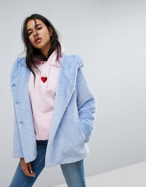 ASOS faux fur blue