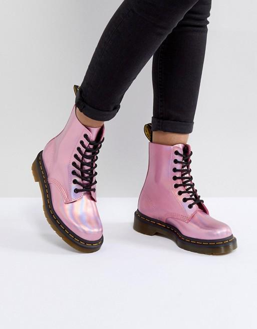 Dr Martens Metallic Pink - Asos