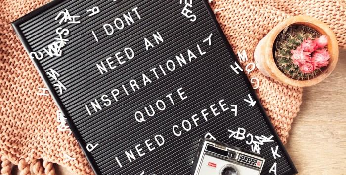 De leukste letterbord quotes