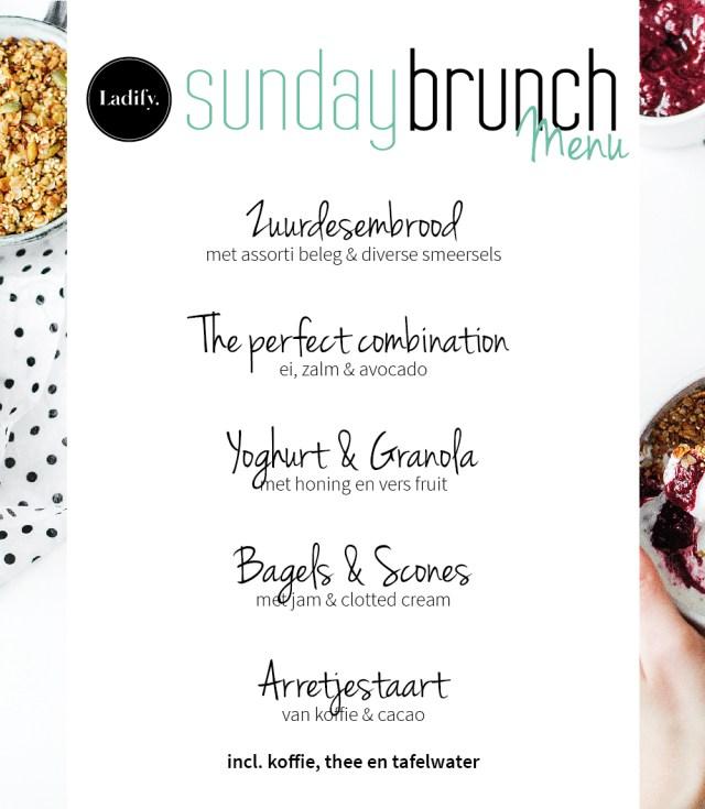 Lady Sunday Brunch menu