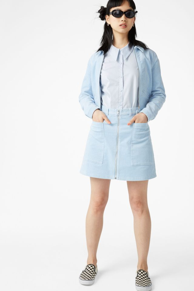 baby blue corduroy outift