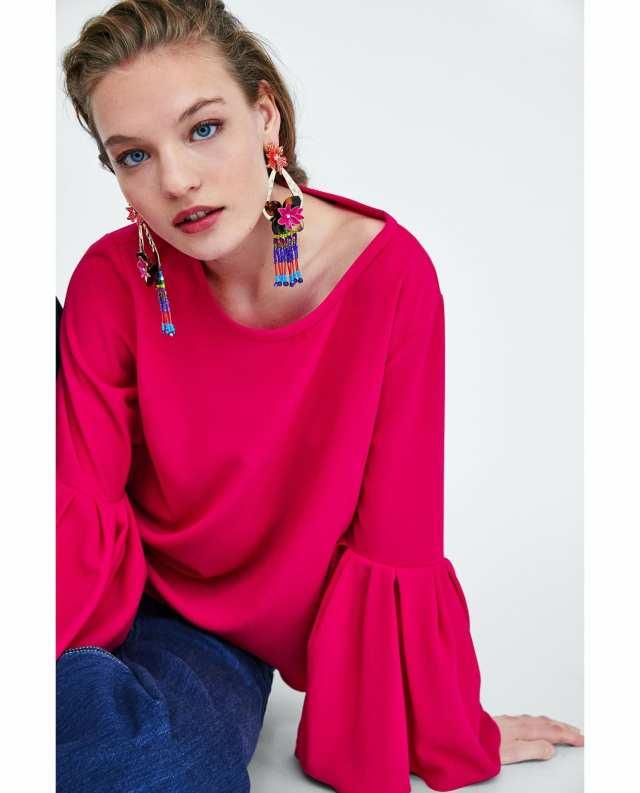 Zara top met plooien