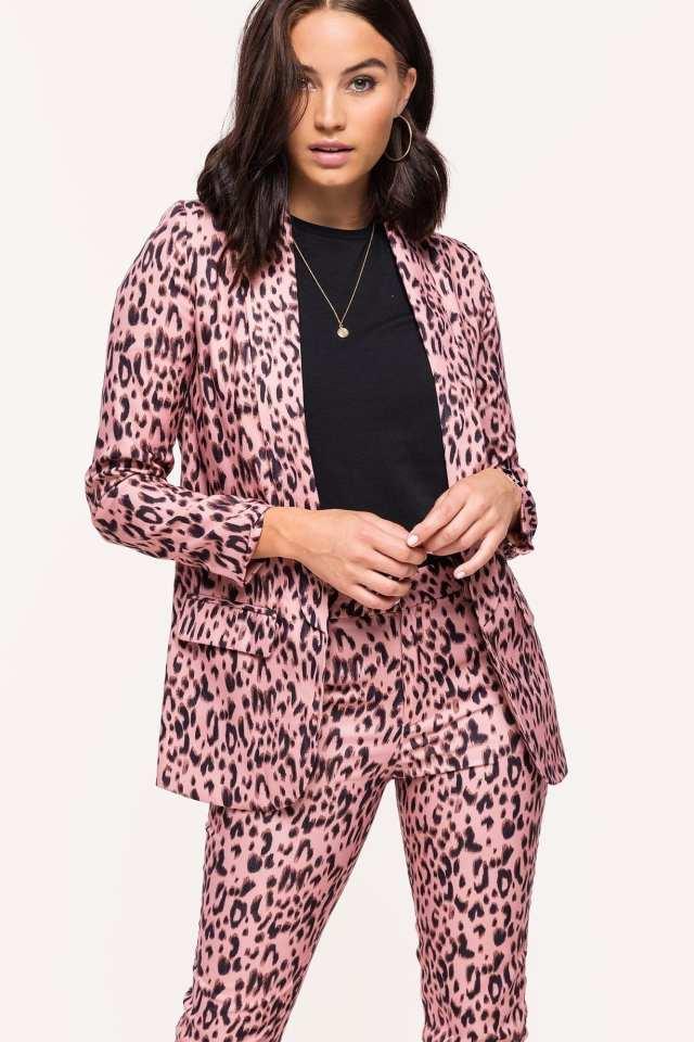 loavies - blazer luipaard roze