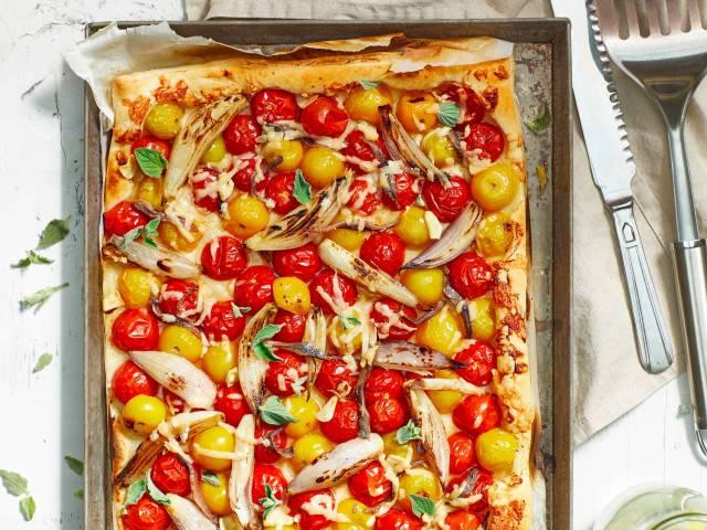 Recept voor zomerse quiche: tomatentartelette