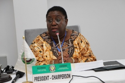 Marjon Kamara, présidente du Conseil des ministres de la CEDEAO
