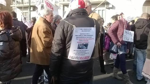 Protesta discarica Chiaiano