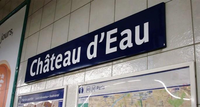 Chateau d'Eau metro station in Paris