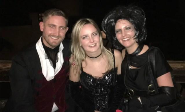 James, Alana and Gemma Moorhead at Bran Castle