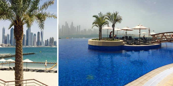 Vicky Hornsby's infinite pool view of Dubai's incredible skyline