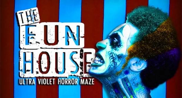 Fun House maze at Hop Farm's Freak Week Halloween experience