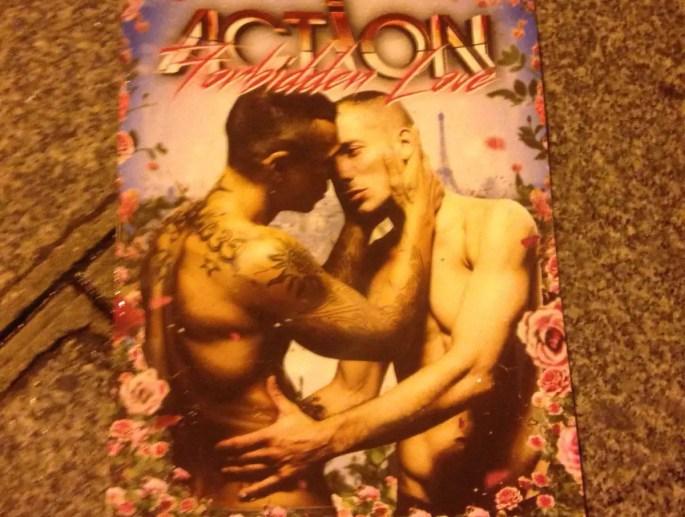 Gay magazine in streets of Paris, Marais