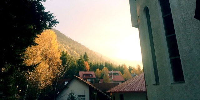 Our view from House of Dracula hotel, Brasov