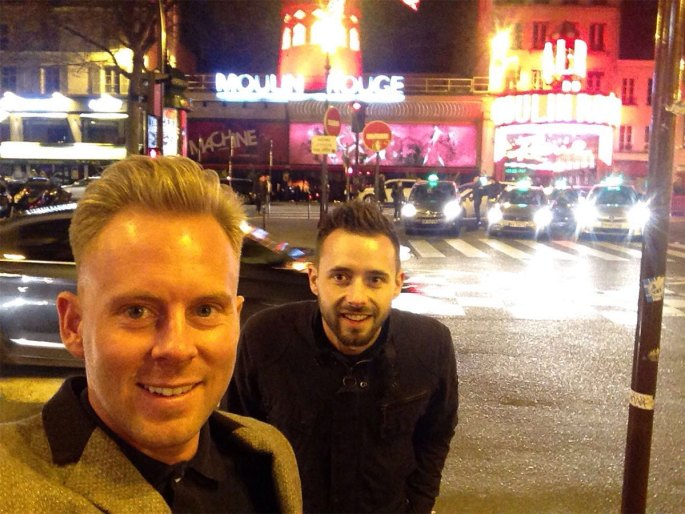 Lee and Shane at Moulin Rouge