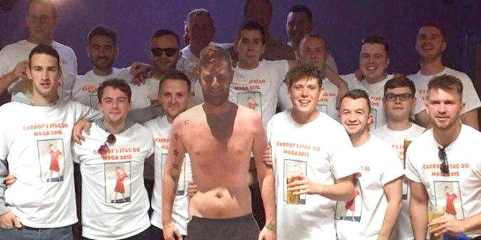 Chris Lloyd aka 'Carrots' couldn't make his own stag do, so...