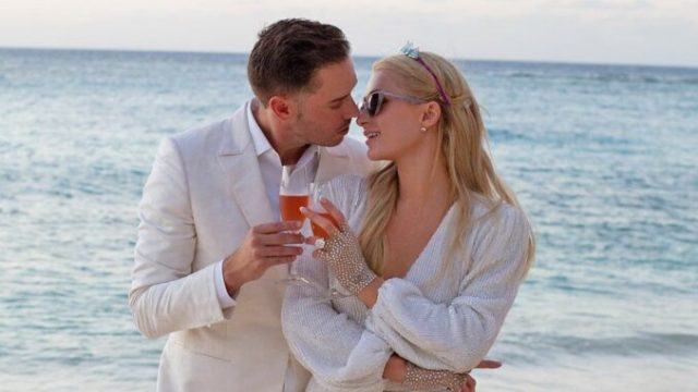"""Paris Hilton is pregnant and expecting her first child with her fiancé, Carter Reum. The pair have been open about wanting to start a family together, with Hilton, 40, revealing in January that she had been undergoing IVF treatments. """"He's just my dream guy. … [Carter is] 100 percent [the one],"""" she said on the """"Trend Reporter"""" podcast at the time. """"We talk about [planning a wedding] all the time and planning our baby's names and all of that."""" Hilton and the venture capitalist, also 40, got engaged in February after dating for a year. Reum popped the question on a private island with an emerald-cut diamond ring designed by Jean Dousset in February 2021."""