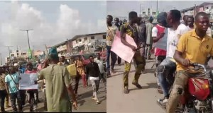 Protest Rocks Ibadan Over Igboho's Arrest In Benin Republic