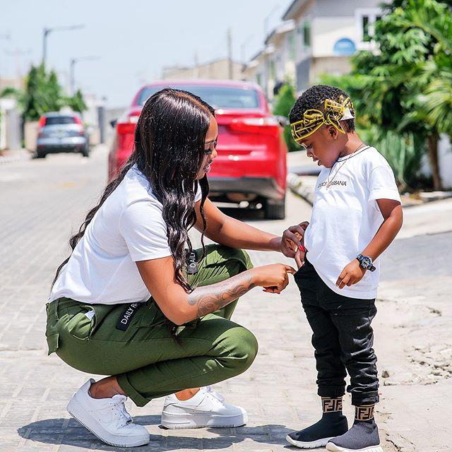 Tiwa Savage Celebrates Son At Six